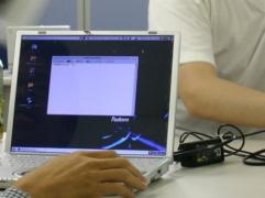 ノートPC使用風景