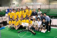 vienna cubesチーム(オーストリア)との試合後の記念撮影